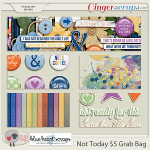 Not Today $5 Grab Bag by Luv Ewe Designs and Blue Heart Scraps