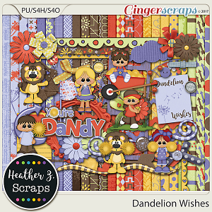 Dandelion Wishes KIT by Heather Z Scraps