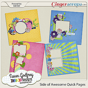 Side of Awesome Quick Page Set by Susan Godfrey
