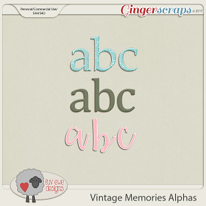 Vintage Memories Alphas by Luv Ewe Designs