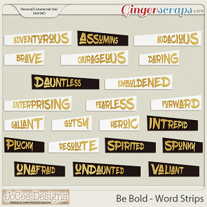Be Bold Word Art Strips