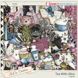 Tea With Alice Page Kit