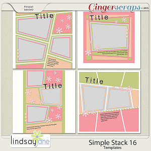 Simple Stack 16 Templates by Lindsay Jane