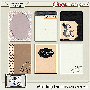 Wedding Dreams {journal cards}