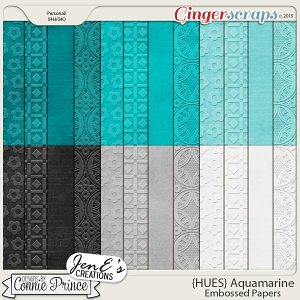 {HUES} Aquamarine - Embossed Papers