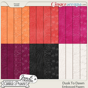Dusk To Dawn - Embossed Papers