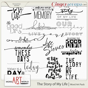 The Story of My Life Word Art
