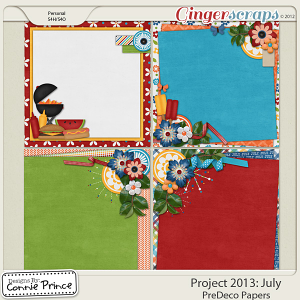 Project 2013:  July - PreDeco Papers