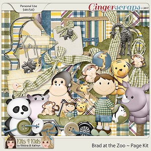 Brad Plaid at the Zoo Page Kit by K4K