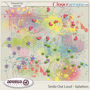 Smile Out Loud - Splatters by Aprilisa Designs
