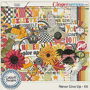 Never Give Up Kit: by CathyK Designs