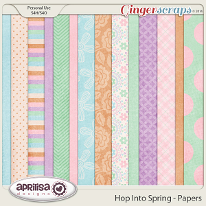 Hop Into Spring - Papers by Aprilisa Designs