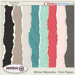 Winter Memories - Torn Papers by Aprilisa Designs