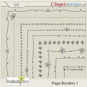Page Borders 1 by Lindsay Jane