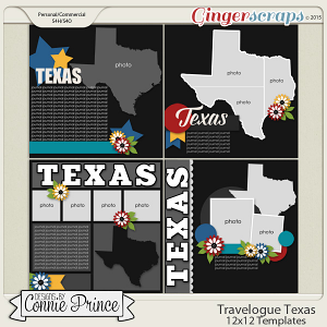 Travelogue Texas - 12x12 Temps (CU Ok)