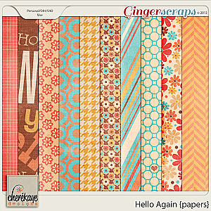 Hello Again Papers by Chere Kaye Designs