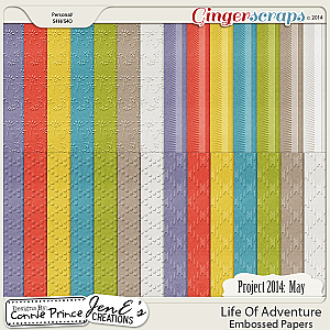 Project 2014 May:  Life Of Adventure - Embossed Papers