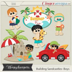Building Sand Castles Boys