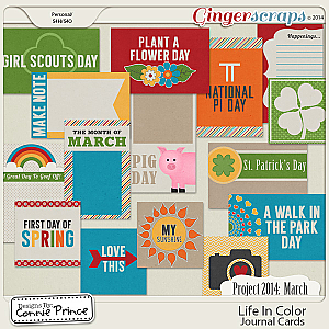 Project 2014 March: Life In Color - Journal Cards