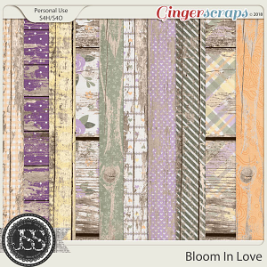 Bloom In Love Worn Wood Papers