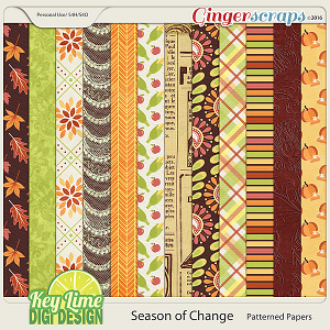 Season of Change - Patterned Papers