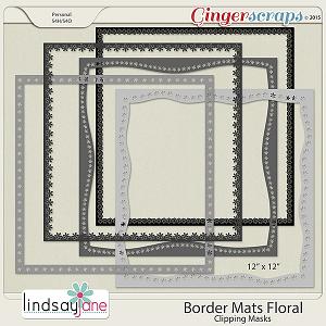 Border Mats Floral by Lindsay Jane