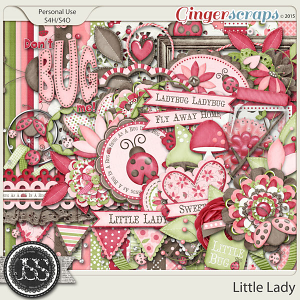 Little Lady Digital Scrapbooking Kit