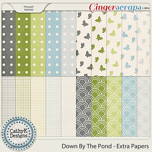 Down By The Pond Extra Papers by CathyK Designs