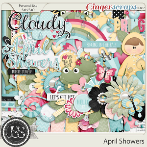 April Showers Digital Scrapbook Kit