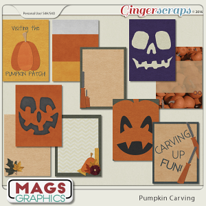 Pumpkin Carving JOURNAL CARDS by MagsGraphics