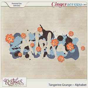 Tangerine Grunge Alphabet