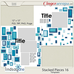 Stacked Pieces 16 Templates by Lindsay Jane