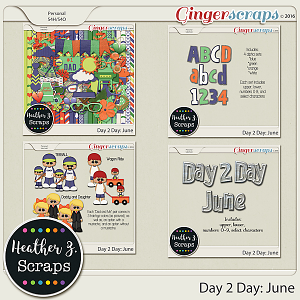 Day 2 Day: June MEGA BUNDLE by Heather Z Scraps