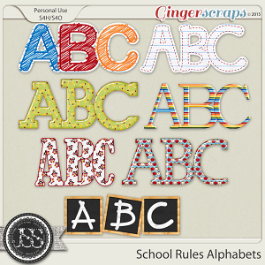 School Rules Alphabets