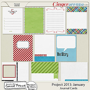 Project 2013: January - Journal Cards