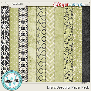 Life Is Beautiful Paper Pack by Kathy Winters Designs