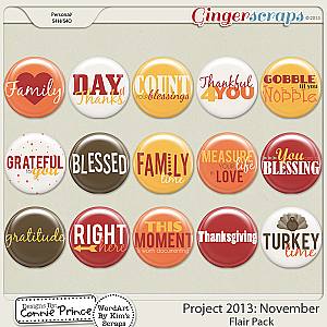 Project 2013:  November - Flair Pack