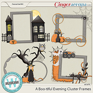 A Boo-tiful Evening Cluster Frames by Kathy Winters Designs