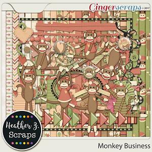 Monkey Business KIT by Heather Z Scraps
