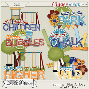 Play All Day - Word Art Pack