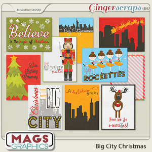 Big City Christmas JOURNAL CARDS by MagsGraphics