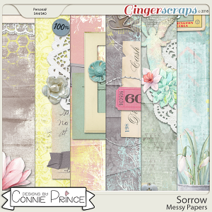 Sorrow - Messy Papers by Connie Prince