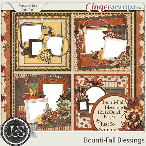 Bounti-Fall Blessings 12x12 Quick Pages