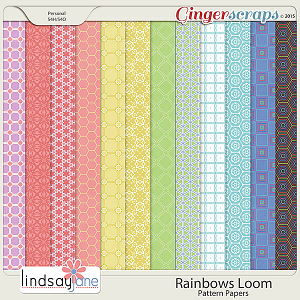 Rainbows Loom Pattern Papers by Lindsay Jane