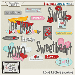 Love Letters {word art}