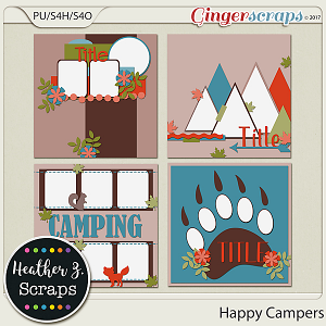 Happy Campers TEMPLATES by Heather Z Scraps