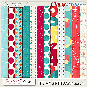 ITs MY BIRTHDAY: Paper Pack 1