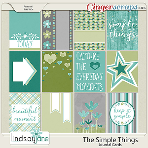 The Simple Things Journal Cards by Lindsay Jane