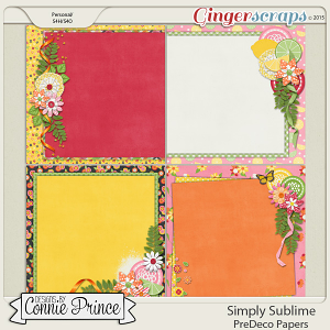 Simply Sublime - PreDeco Papers