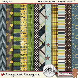 READING ROOM: Paper Pack 1 from Inspired Designs